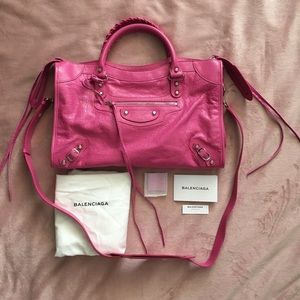 Balenciaga medium tote pink New rare color